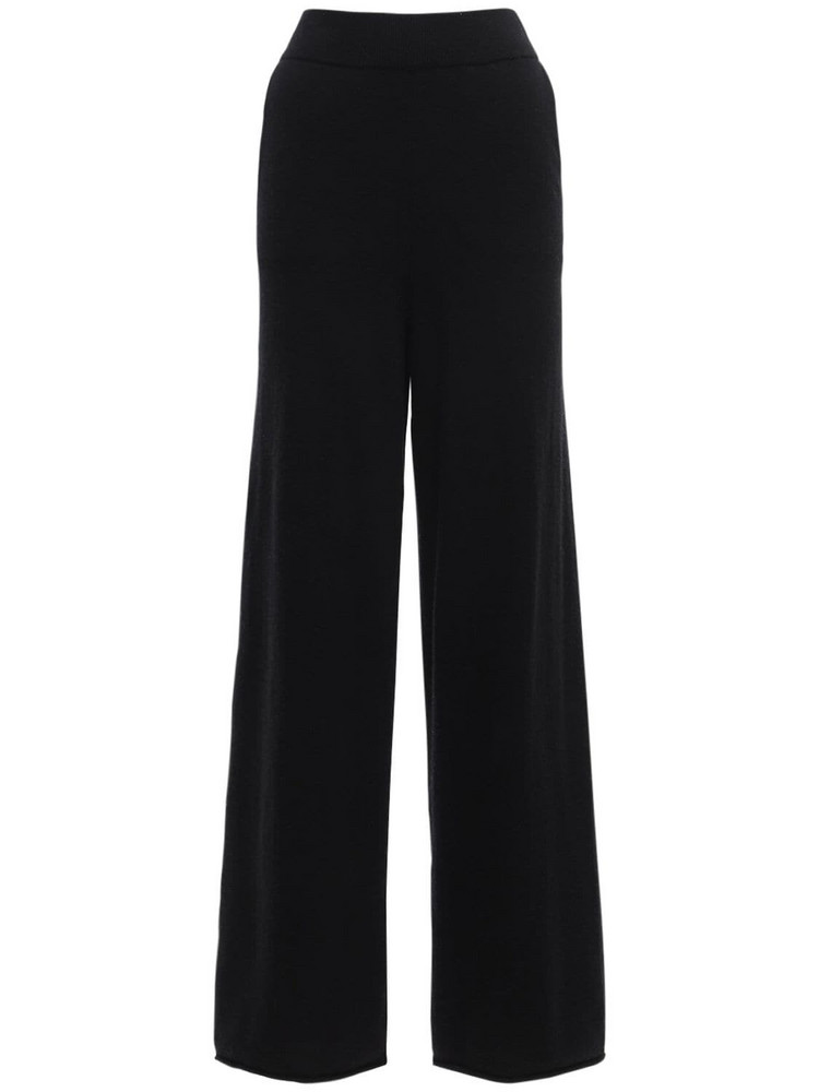 LOULOU STUDIO Tioman Cashmere Knit Wide Pants in black