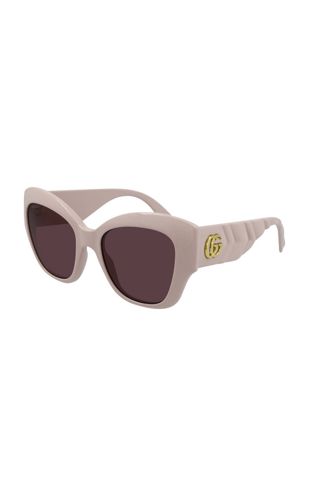 Gucci Cat-Eye Acetate Sunglasses in pink