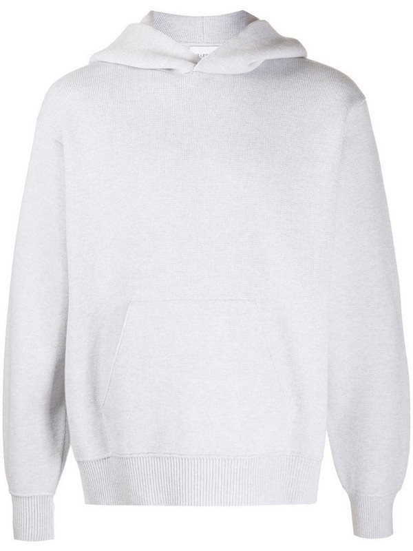 Barrie Ideal rib-trimmed oversized hoodie in grey