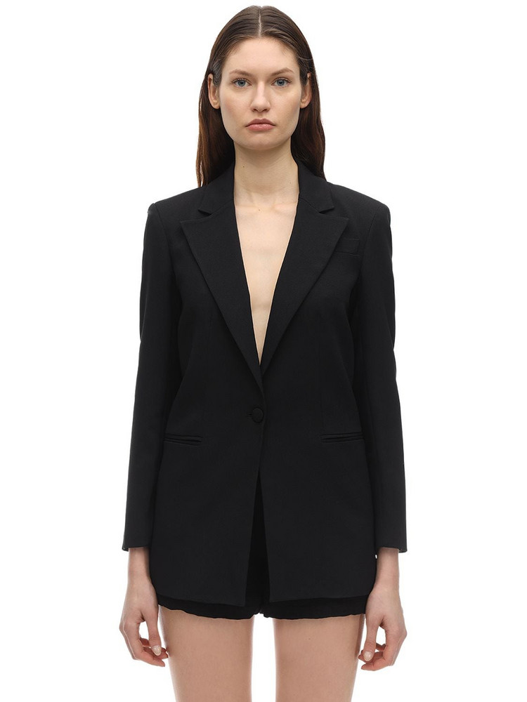 L'AUTRE CHOSE Acetate & Viscose Crepe Jacket in black