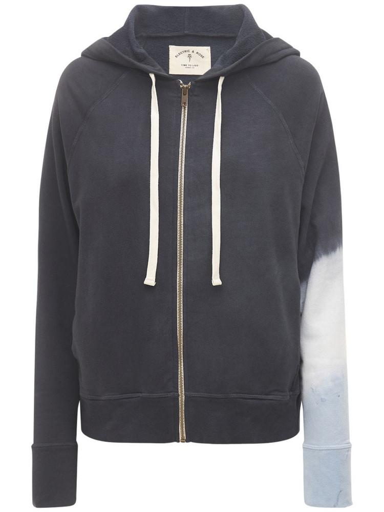 ELECTRIC & ROSE Highland Zip Hoodie in black / blue