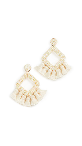 BaubleBar Mini Laniyah Drop Earrings in gold / ivory