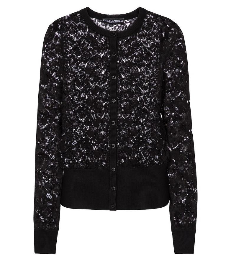 Dolce & Gabbana Lace cardigan in black