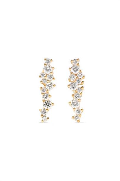 Sydney Evan - 14-karat Gold Diamond Earrings