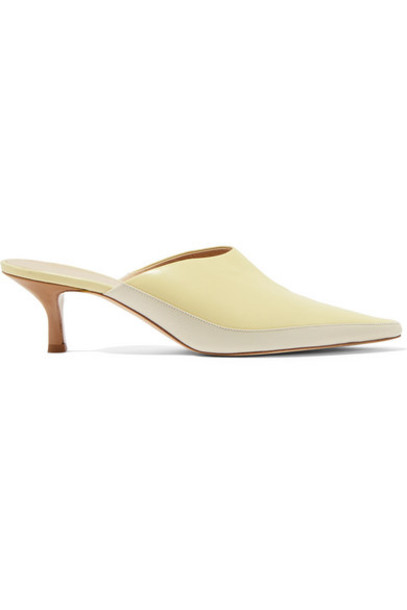 Wandler - Bente Two-tone Leather Mules - Off-white