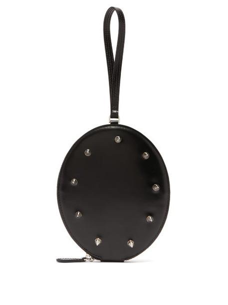Simone Rocha - Studded Leather Wristlet Clutch - Womens - Black