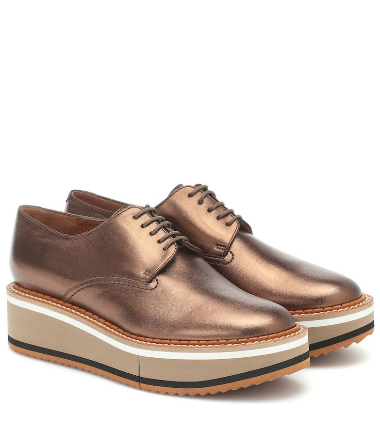 Clergerie Brook leather shoes in brown