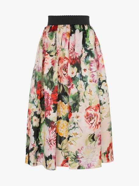 Dolce & Gabbana Organza floral print midi skirt