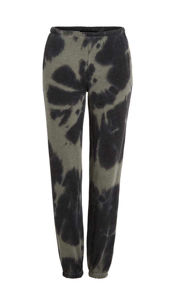 Generation Love Anja Tie Dye Pants in black / green