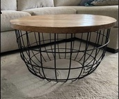 home accessory,coffee table. wire.    metal