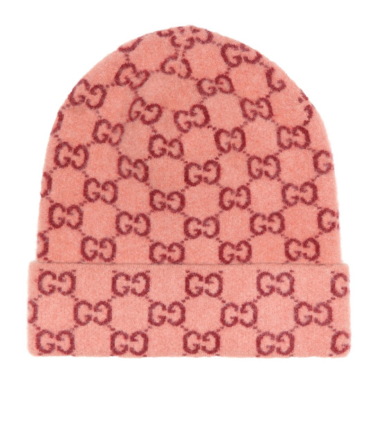 Gucci GG jacquard wool beanie in pink