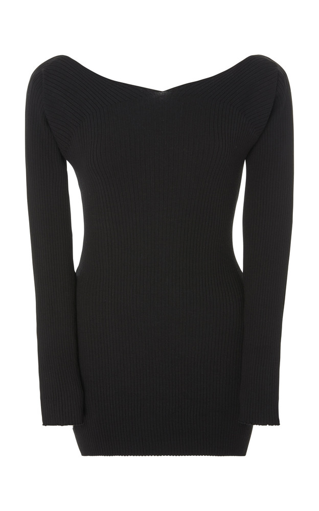 Live the Process Off Shoulder Sweater in black