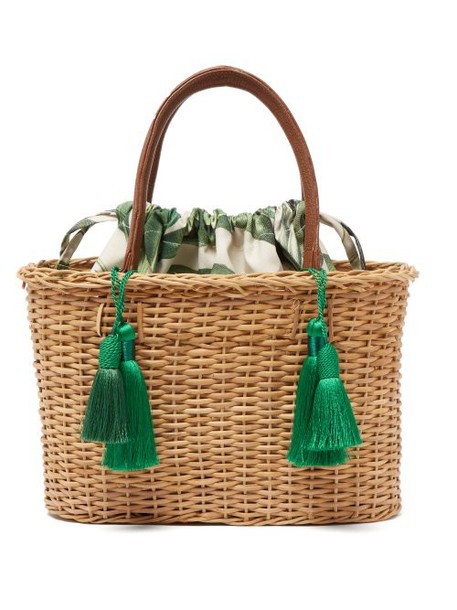 Glorinha Paranagua - Palermo Woven Wicker Basket Bag - Womens - Brown Multi