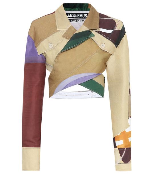 Jacquemus Le Haut Azur cotton and linen jacket