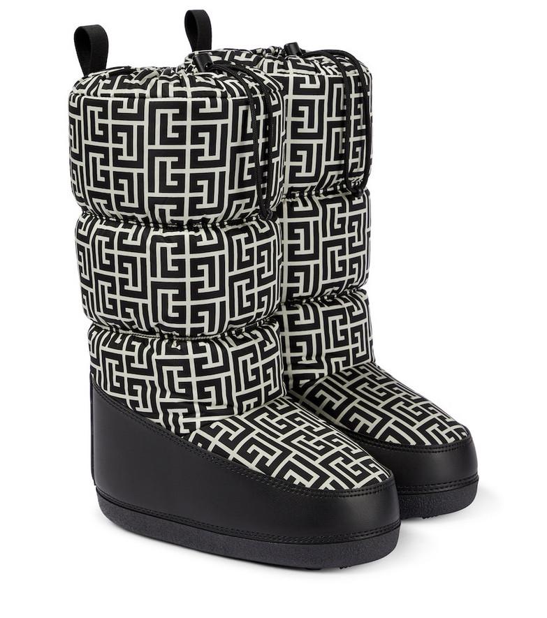 Balmain Monogram snow boots in black