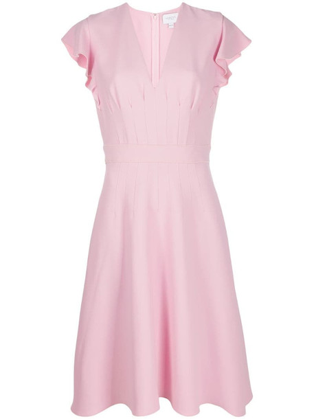 Giambattista Valli darted crepe dress in pink