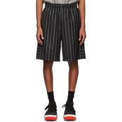 shorts,jacquard,black,wool