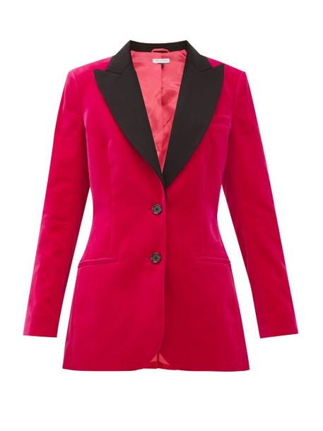 Bella Freud - Saint James Contrast-lapel Cotton-velvet Jacket - Womens - Pink