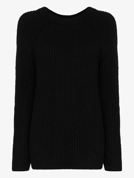 Helmut Lang Ghost ribbed knit jumper in black