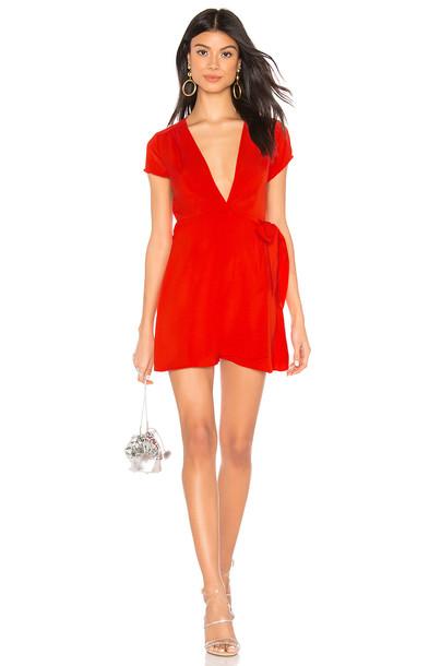 superdown Kaia Wrap Dress in red