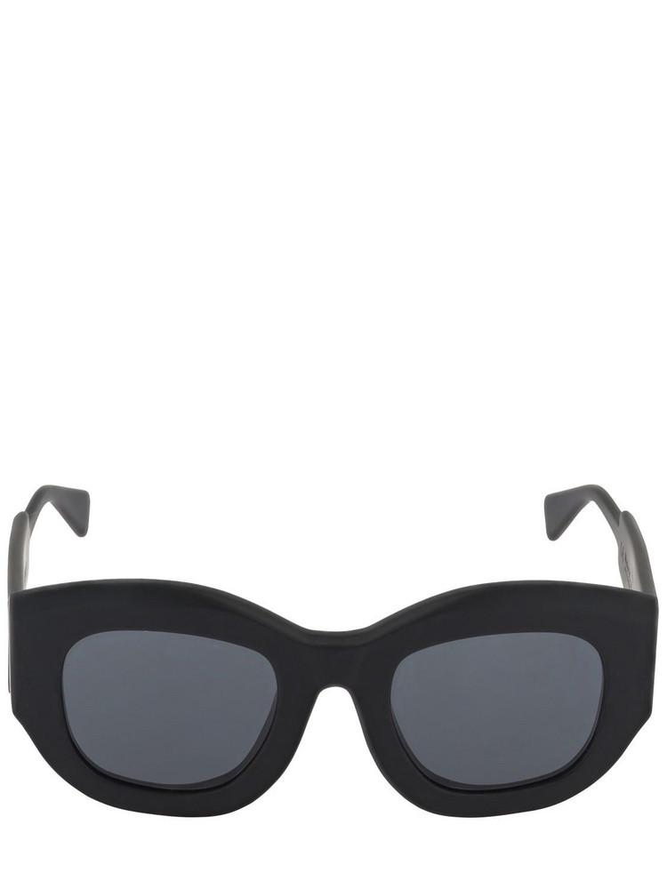 KUBORAUM BERLIN B5 Round Matte Acetate Sunglasses in black