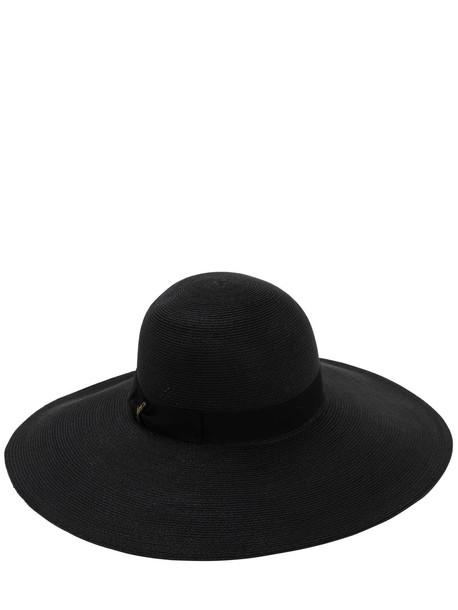 BORSALINO Pamela Hemp Hat in black
