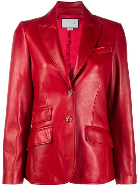 Gucci single-breasted blazer in red