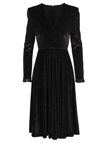 Philosophy di Lorenzo Serafini Philosophy Velvet Glitter Dress in black