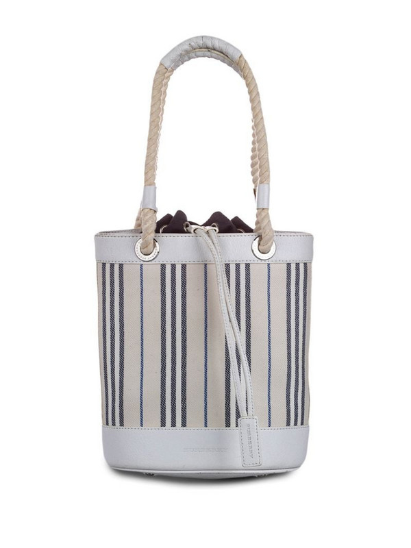 Burberry Pre-Owned striped rope tote bag in neutrals