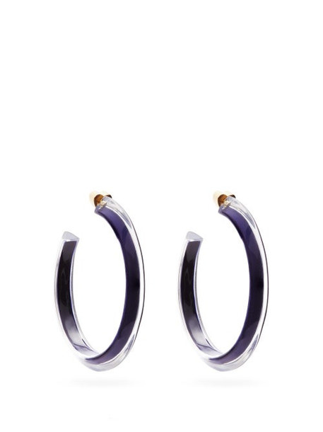 Alison Lou - Jelly Medium Gold-plated Hoop Earrings - Womens - Blue