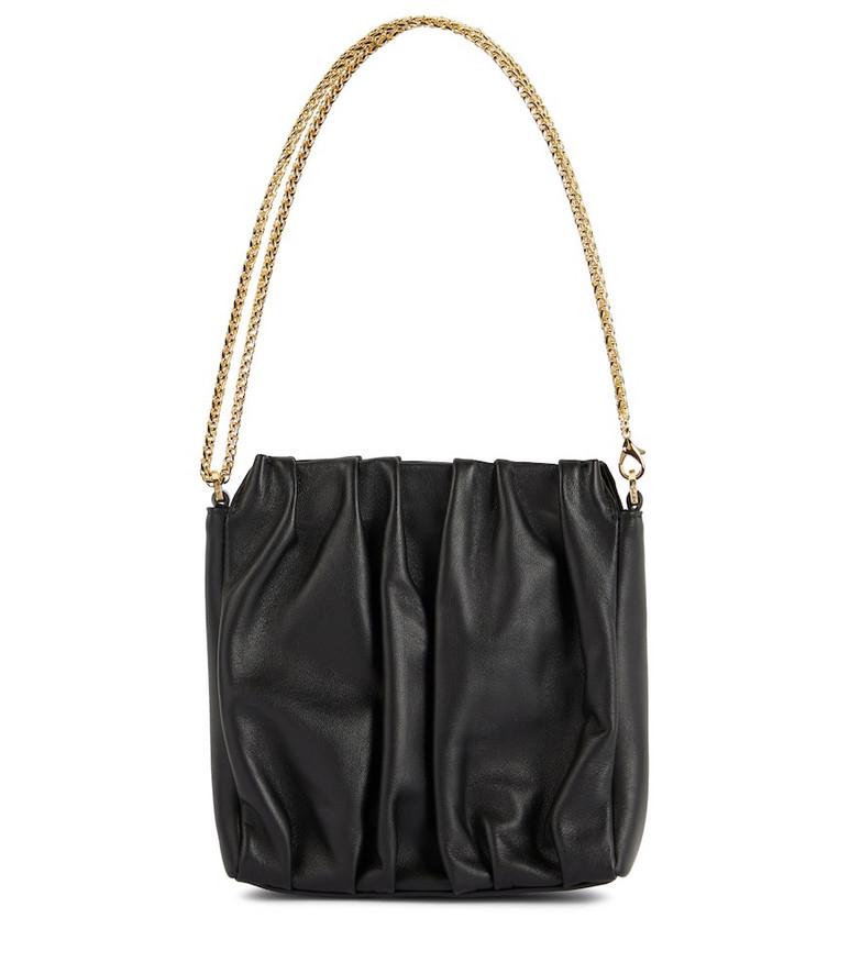 Elleme Square Vague leather shoulder bag in black