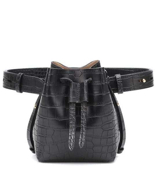 Nanushka Minee faux leather belt bag in black