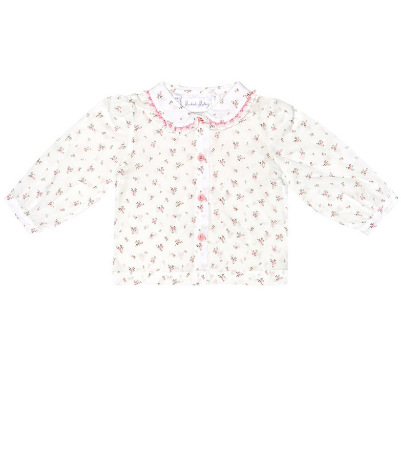 Rachel Riley Baby floral cotton blouse in white