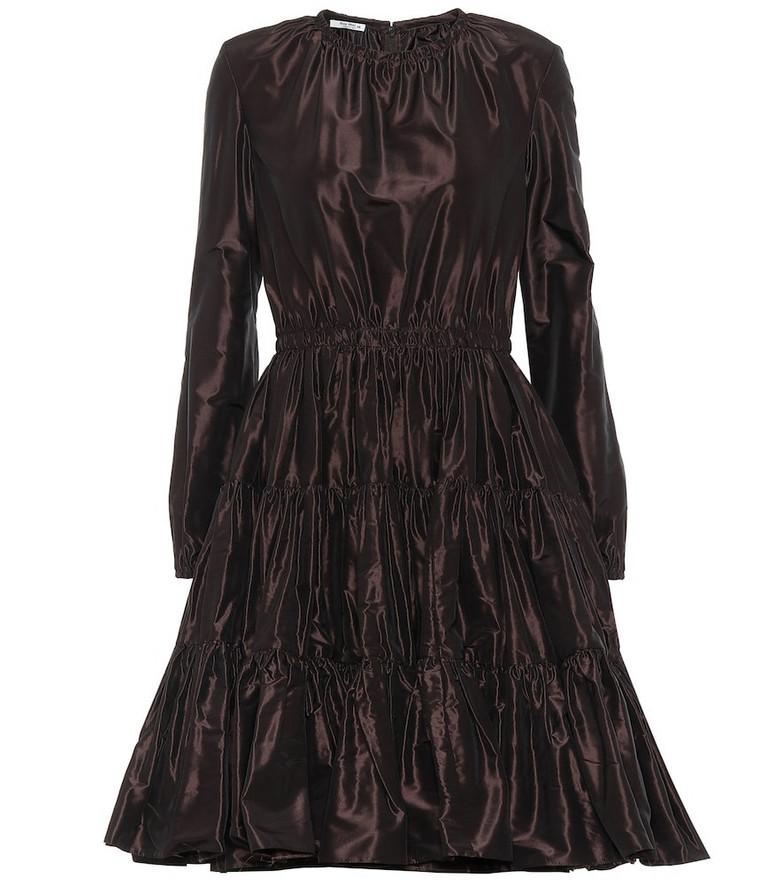 Miu Miu Silk-taffeta dress in brown