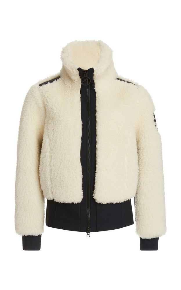 Toni Sailer Rika Wool-Blend High-Neck Jacket in white