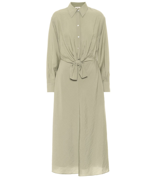 Vince Crêpe shirt dress in green
