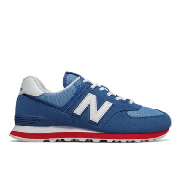 New Balance 574 Essentials Men's 574 Shoes - Blue/Red (ML574ERG)