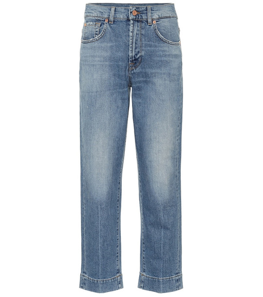 7 For All Mankind The Modern Straight high-rise jeans in blue