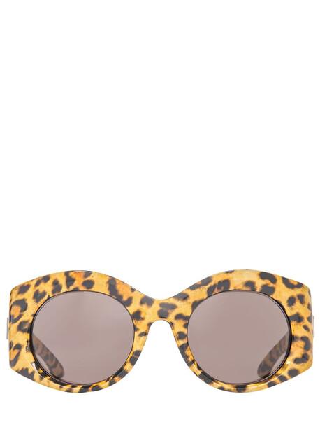 BALENCIAGA Bold Round Sunglasses in leopard