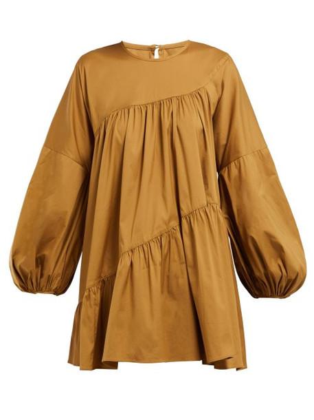 Lee Mathews - Elsie Tiered Cotton Blend Top - Womens - Light Brown