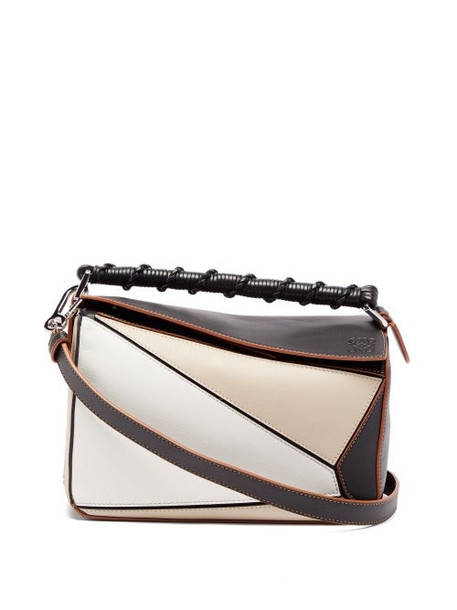 Loewe - Puzzle Small Leather Cross-body Bag - Womens - Grey Multi