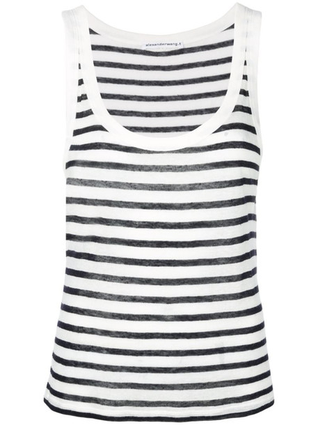 Alexander Wang striped tank top in white