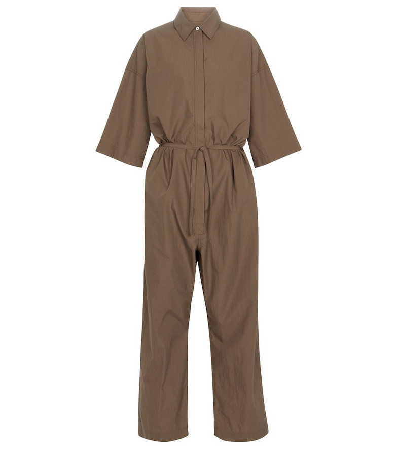 Co Essentials cotton-blend jumpsuit in brown