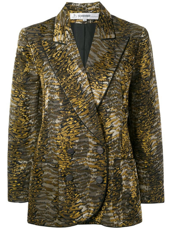 Jean Louis Scherrer Pre-Owned 1990's tiger print blazer in green