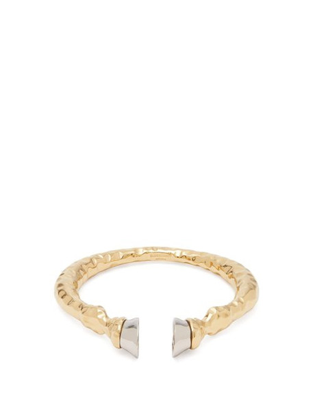 Burberry - Hoof Two Tone Cuff - Womens - Silver Gold