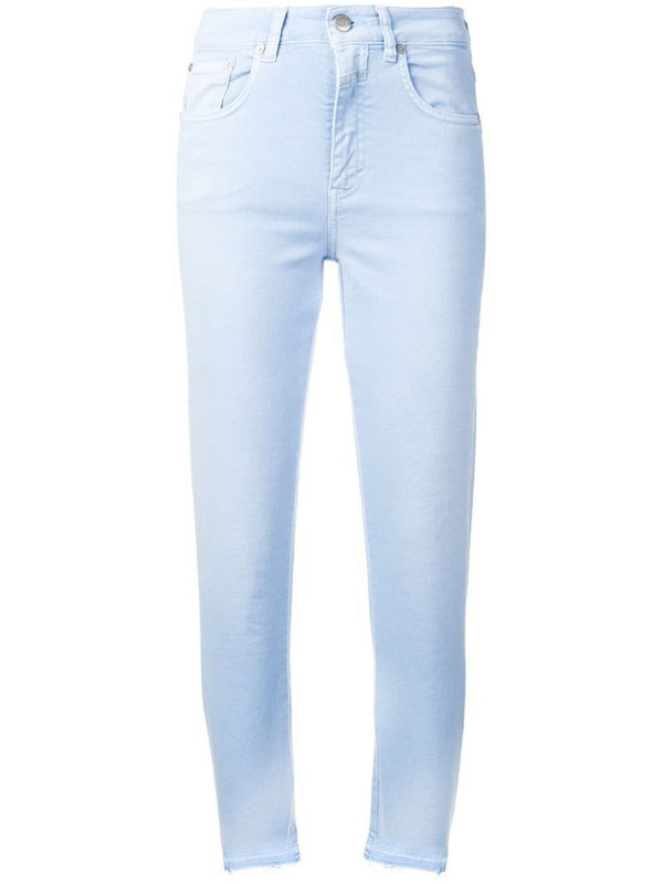 Closed frayed slim fit jeans in blue