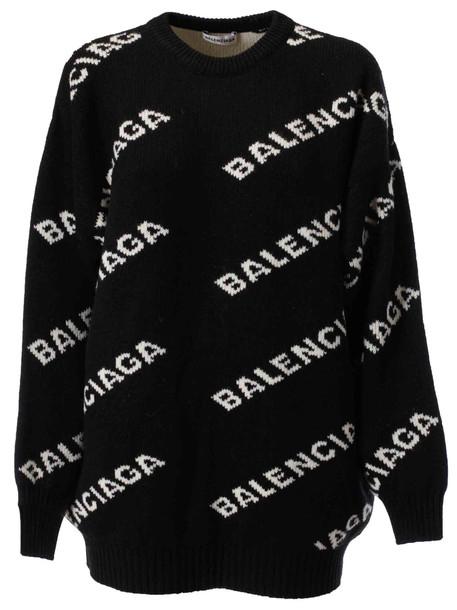 Balenciaga Logo Sweater in black