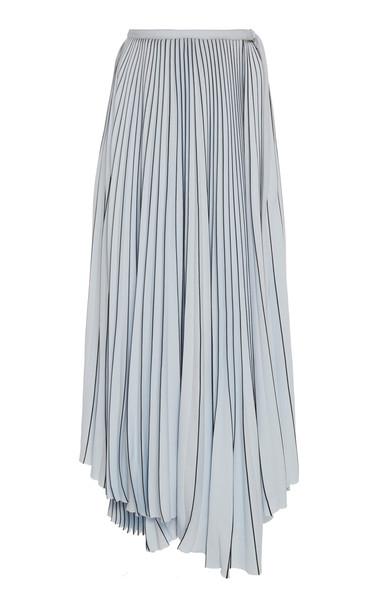 Proenza Schouler Asymmetric Pleated Crepe Maxi Skirt Size: 0
