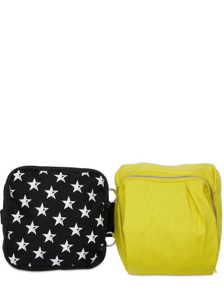 EASTPAK BY RAF SIMONS 3l Eastpak Rs Waist Loop Belt Bag in black / yellow