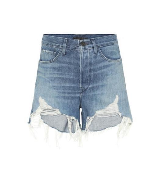 3x1 Blake high-rise denim shorts in blue